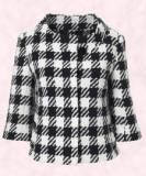 Wallis version of the black and white check jacket.  Large dogtooth jacket �70 (�110)